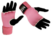 Gel Padded PINK Inner Gloves Hand Wrap boxing bag MMA UFC CARBON fibre S -L
