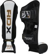RDX MMA Leather Shin Instep Guard Leg Pads Protective Muay Thai Boxing Kickboxing Training