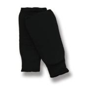 Martial Elasticated Cotton Black Shin Pads