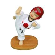 Martial Arts Taekwondo High Quality Kick Figurine - Red