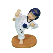 Martial Arts Taekwondo High Quality Kick Figurine - Blue