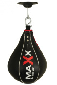 Maxx BLack Genuine Leather Speed Ball & FREE Swivel Boxing Punch bag speed bag