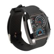 Vktech Men Flash LED Military Sports Wrist Watch Black