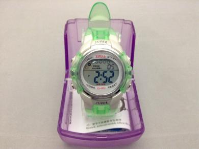 Children Green Water Resistant Multifunction Sports Digital Watch