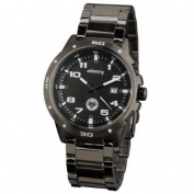 INFANTRY Men's Analogue Date Display Wrist Watch Military Black Gunmetal Stainless Steel Bracelet Strap #IN-010-W-S