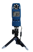 MISOL 1 UNIT of Handheld Anemometer with Tripod, wind speed wind chill thermometer