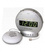 Sonic Alert SBT425ss Digital Sonic Boom Loud Vibrating Alarm Clock with Telephone Signaler