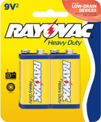Rayovac Heavy Duty Batteries, 9V Size, 0.20 Pound