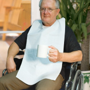 Disposable Adult Tie-Back Poly Bibs