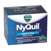 Vicks 44 Nyquil Cold And Flu Relief Liquicaps, 72 Count