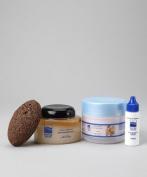 Dead Sea Spa Care, Body Scrub,10 Oz Dead Sea Salt Scrub, 240ml Shea Body Butter, 30ml Cuticle Oil and Pumice Stone Gift Set, Dead Sea Products, Gift Sets, Pampering Sets, Home Spa Sets