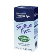 Bausch & Lomb Sensitive Eyes Rewetting Drops for Soft Contact Lenses-0.5 oz
