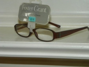 Brown +2.75 Foster Grant Reading Glasses