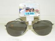 +2.0 Foster Grant Aviator Reading Glasses / Sun Glasses Combo