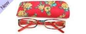 ilovemyreadingglasses Fashion Reading Glasses - Floral Red