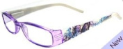 ilovemyreadingglasses Fashion Reading Glasses - Tattoo Purple