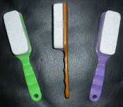 3 pcs/set Pumice Stone on a stick For pedicure foot care scrub
