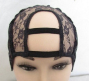 Wide Gap Middle U Part Wig Making Cap. 3.5'' X 3.5''. Ideal for adding closure. With Adjustable Sturdy Straps.Upart. U-part. U part. Weaving Net. Weaving Cap. Wig Cap. Medium Size