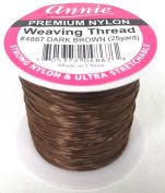 Annie Premium Nylon Weaving Thread 25yards Dark Brown #4867