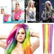 ECOSCO 60cm 24pc Assorted of colours Clips in Human Hair Extensions for Women's Beauty Hairsalon in Fashion...