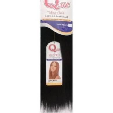 MILKYWAY HUMAN HAIR QUE YAKY WEAVE 30cm #1 JET BLACK