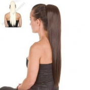Straight Long Bleach Blonde Pony Tail Hairpiece 50cm High Heat Fibre