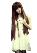 Girl's Sweet Style Long Fluffy Straight Synthetic Hair Wig (Model