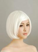 30CM Short White Hair Cosplay Wig