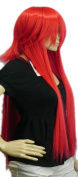 Yazilind Short Long Straight Red Synthetic Hair Full Cosplay Costume Wig