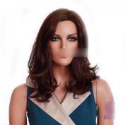 fashion women wig.fantasy wigs high quality hair wig medium long auburn wig synthtic kanekalon wig