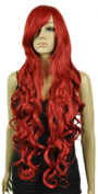 Yazilind Women's Extra Long Wavy Curly Red Fancy-Dress Party Heat Resistant Full Hair Cosplay Anime Costume Wig