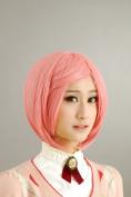 Pink Short Hair Straight Hair Msn Cosplay Wig