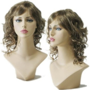 Curly Ash Brown Female Wig