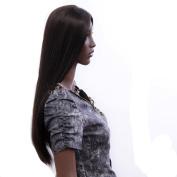 SexyWaist long hair Dark Brown Natural Straight centre part Hair Style Women Wig