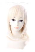 FENGSHANG Ao No Exorcist Moriyama Shiemi Short Cosplay Wigs 33cm Golden
