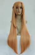 Cf-fashion Sword Art Online Asuna Yuuki Good Quality 900mm Cosplay Wig Woman's Hair Paty Cos Japanese Anime