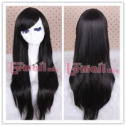 Lemail wig 80cm Anime Long Black Wig Straight Cosplay Wigs cw109-d