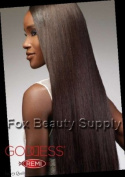Sensationnel Goddess 100% Remi Human Hair Yaki WVG 41cm Colour 1