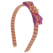 Tarina Tarantino - Fashion Couture - Ombre Collection - Ombre Ribbon-Wrapped Headband w/Bow - Amber #HB03U9-210