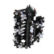 Bead and Floral Hair Claw 7.6cm L
