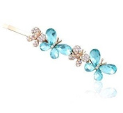 . Oyang Fashion Blue Butterfly Jewellery Crystal Hair Clips Hairpin Q- for hair clip hairpins Beauty Tools
