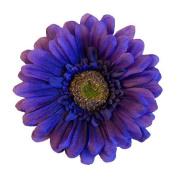 Gerbera Daisy Artificial Flower Hair Clip/Pin Brooch, Purple