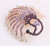 . Oyang Beautiful Jewellery Purple Crystal Hair Clips N- for hair clip Beauty Tools-Oyang
