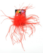 Touch of Nature 40320 Ostrich/Fluffy Clip, Red