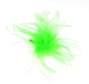 Touch of Nature 40331 Ostrich/Fluffy Clip, Hot Lime