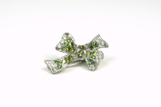 Princess Crstyal Bow - Small Hair Clip for Girls & Woman - Pink, Yellow, Green, Blue, White & Purple