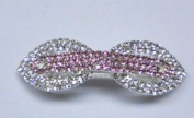 Colourful Rhinestone Flower with Elastic Hair Barrettes for Woman+ Gift Box