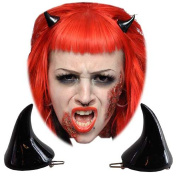 Kreepsville 666 Horror Hair Horns - Black