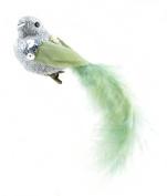 Touch of Nature 1-Piece Fancy Glitter Bird on Clip, 13cm , Fennel