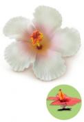 Isle Heritage Hair Clip Foam Flower Hibiscus White